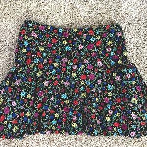 Betsey Johnson Floral Flare Skirt